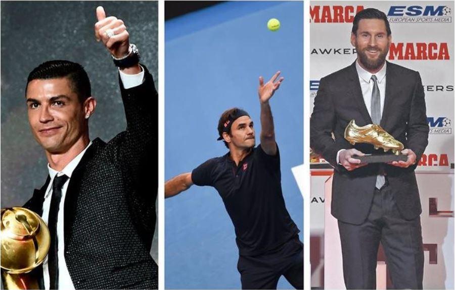 Cristiano Ronaldo, Roger Federer y Lionel Messi, son de los mejores en sus deportes. (Foto Prensa Libre: Hemeroteca PL)