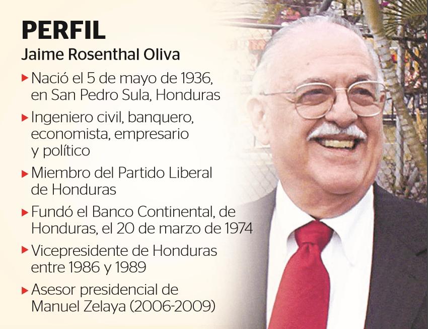 El ex vicepresidente de Honduras y presidente del Grupo Continental, Jaime Rosenthal, falleció  a los 82 años a causa de un infarto. (Foto Prensa Libre: Hemeroteca PL)