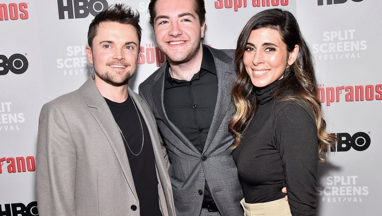 "(FILES) In this file photo (L-R) Robert Iler, Michael Gandolfini and Jamie-Lynn Sigler attend the ""The Sopranos"" 20th Anniversary Panel Discussion at SVA Theater on January 09, 2019 in New York City. - The 19-year-old son of the late James Gandolfini has been cast to play a young Tony Soprano in the planned prequel to the hit television show ""The Sopranos."" (Photo by Theo Wargo / GETTY IMAGES NORTH AMERICA / AFP)"