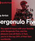 Según Spotify, varios usuarios escucharon un total de 6 horas de un artista del que nunca habían escuchado hablar. (SPOTIFY)