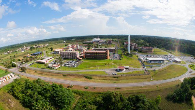 Kourou, en la Guayana Francesa, es la sede del puerto espacial de la Agencia Espacial Europea, ESA (ESA STEPHANE CORVAJA)