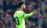Lionel Messi fue el hombre más peligroso del Barcelona pero no consiguió romper las redes del Athletic de Bilbao. (Foto Prensa Libre: AFP)