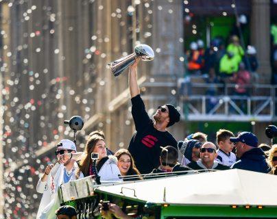En Boston aclamaron a los Patriotas, campeones del Super Bowl LIII (Foto Prensa Libre: AFP)