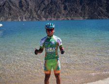 Alfredo Ajpacajá está motivado por participar con su el equipo SEP que espera que el ciclista nacional tengo una buena actuación. (Foto Prensa Libre: Cortesía)