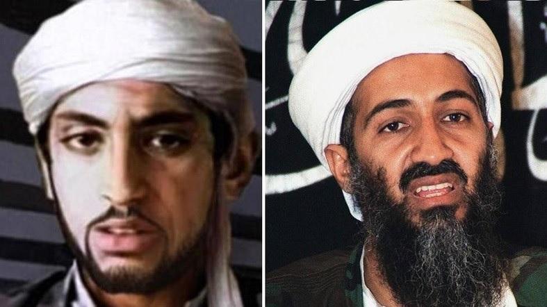 El paradero de Hamnza Bin Laden (izquierda), hijo de Osama Bin Laden, es incierto. (Foto: AFP)