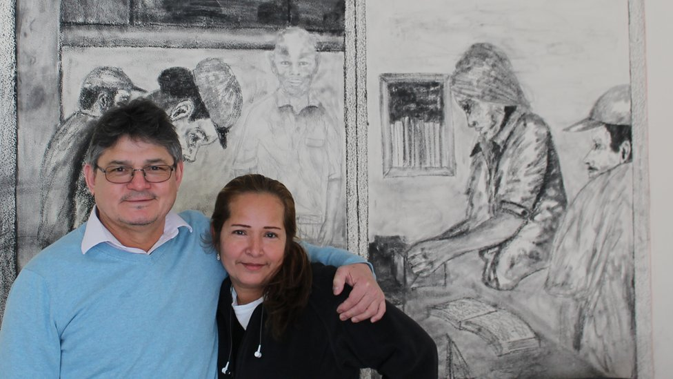 Lindolfo Carballo and Daisy Sánchez at the Wheaton Welcome Centre