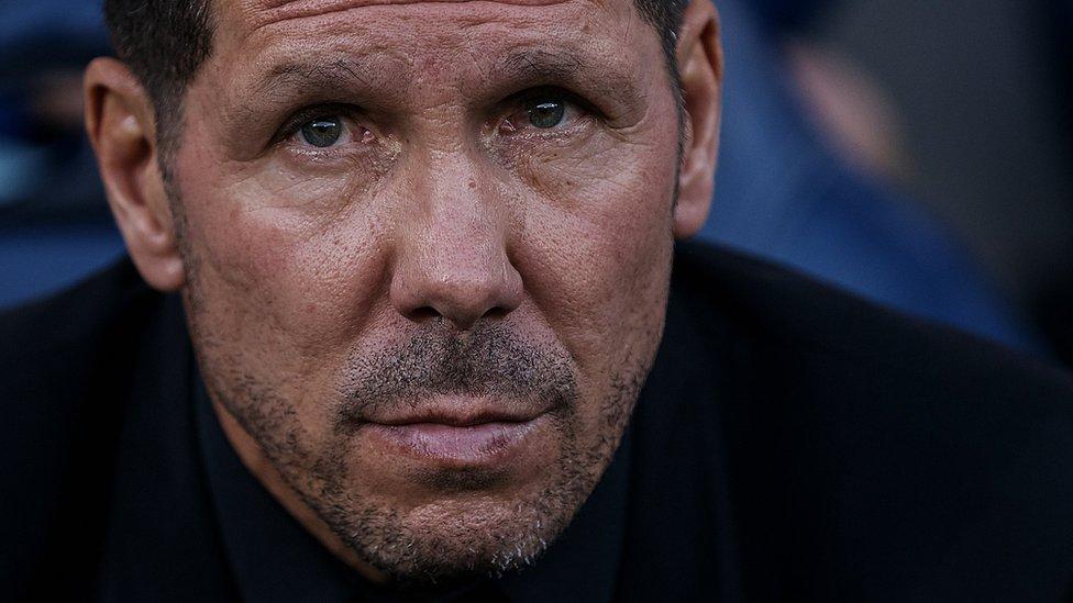 Simeone regresó en 2011 al Atlético de Madrid para ser su entrenador. GETTY IMAGES