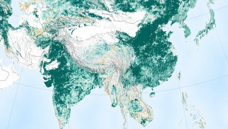 Las imágenes de la NASA muestran que hoy el planeta es más verde.