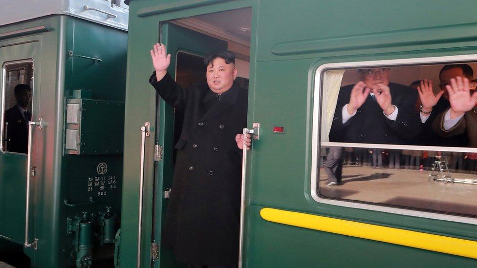 Kim Jong-un partió la tarde del sábado de Corea del Norte hacia Vietnam. REUTERS