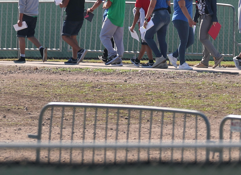 Migrantes en Homestead, ubicado al sur de Miami. (Foto Prensa Libre: Hemeroteca PL)