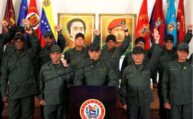 El ministro insistió en que el ejército venezolano sigue apoyando al presidente Nicolás Maduro. REUTERS