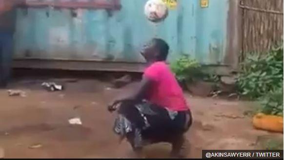 Hadhara Charles Mjeje asegura que su talento le permite ganarse la vida. @AKINSAWYERR / TWITTER