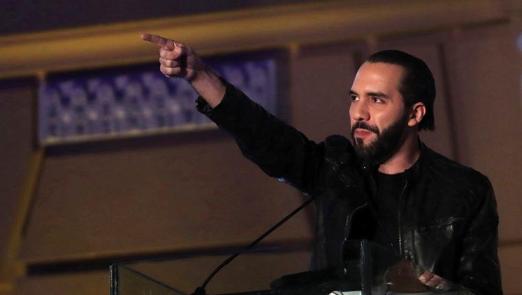 Nayib Bukele se proclamó ganador de las elecciones presidenciales de El Salvador. (Foto Prensa Libre: EFE)