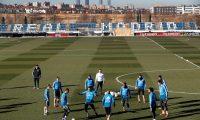 GRAF2092. MADRID, 05/02/2019.-Los jugadores del Real Madrid, durante el entrenamiento celebrado esta mañana en la Ciudad Deportiva de Valdebebas.- EFE/Chema Moya