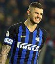 El argentino Mauro Icardi no la pasa bien en el Inter de Milán. (Foto Prensa Libre: EFE)