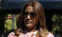 Patricia Marroquín de Morales, esposa del presidente Jimmy Morales, abordó este sábado el avión que la trasladará a Israel. (Foto Prensa Libre: Hemeroteca PL)