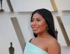 Yalitza Aparicio, en la alfombra roja de los premios Oscar. (Foto Prensa LIbre: EFE)