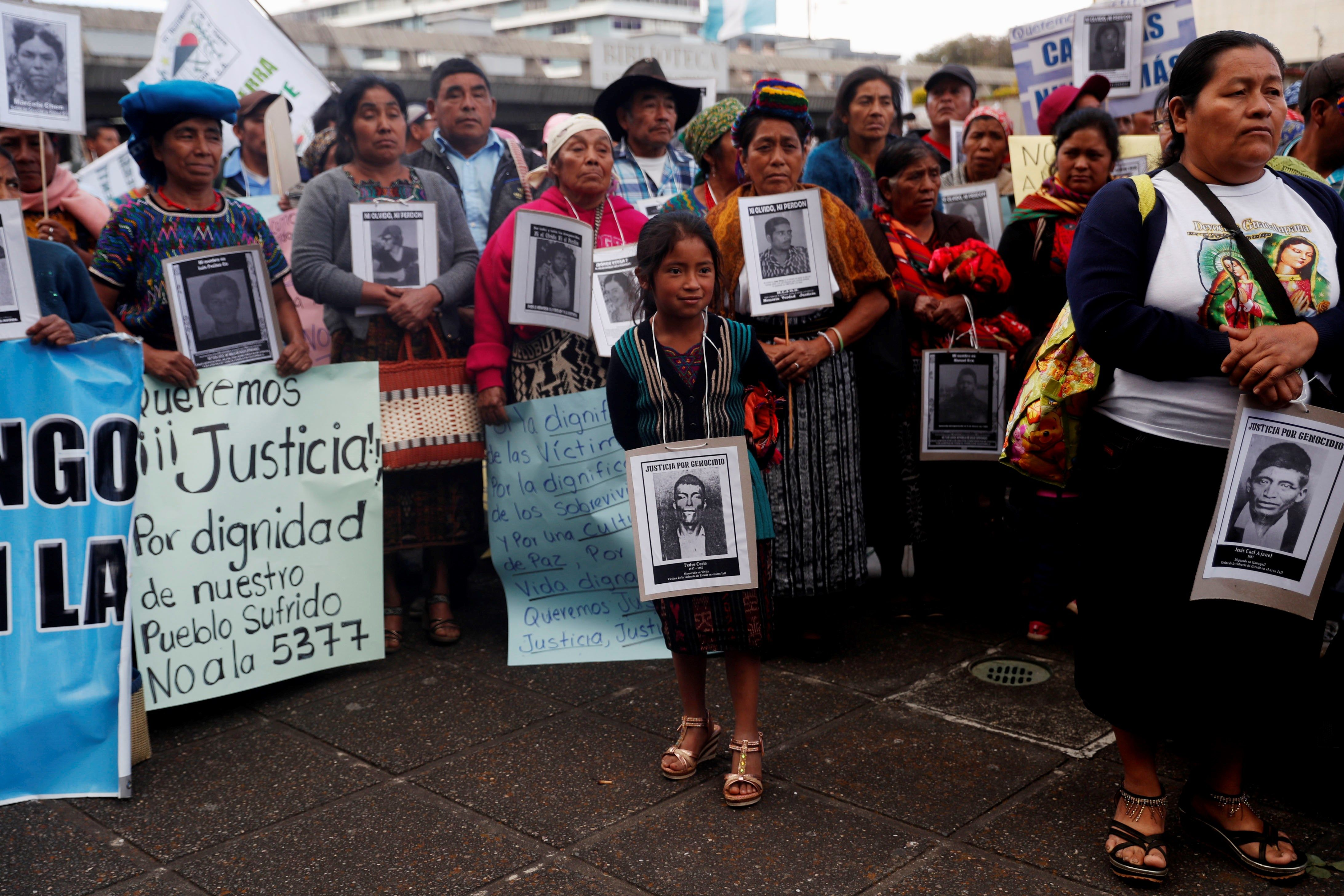 Familiares y víctimas del conflicto armado interno han protestado con las reformas a la Ley de Reconciliación Nacional. (Foto Prensa Libre: Hemeroteca PL)