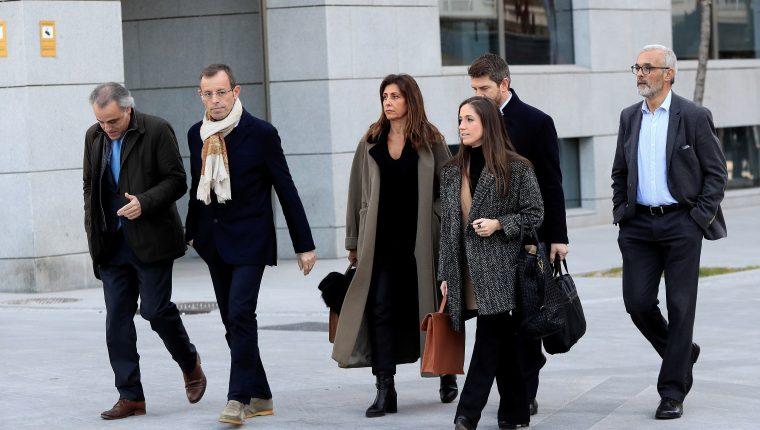 El expresidente del Barcelona Sandro Rosell es juzgado por blanqueo. (Foto Prensa Libre: EFE)