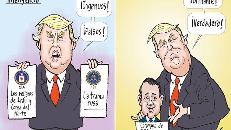 Personajes: Donald Trump y Mario Duarte.