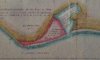 Documentos históricos de la disputa muestran en color rojo el área de El Chamizal que pasó en territorio de EE. UU. MAHCH