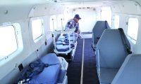 Este es el interior del avión ambulancia. (Foto Prensa Libre: Cortesía)