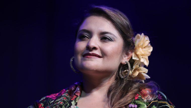 Sara Diéguez, soprano guatemalteca, interpretará los éxitos de Rocío Dúrcal (Foto Prensa Libre: Juan Diego González)