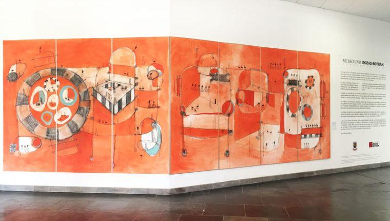 Por todo el campus-museo de la Universidad del Istmo, en Fraijanes, se puede admirar obras de artistas contemporáneos. (Foto Prensa Libre, unis.edu.gt