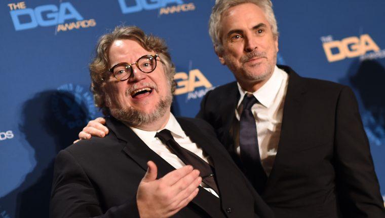 Guillermo del Toro y Alfonso Cuarón expresaron su descontento con la decisión de la Academia del Cine (Foto Prensa Libre:  AFP).