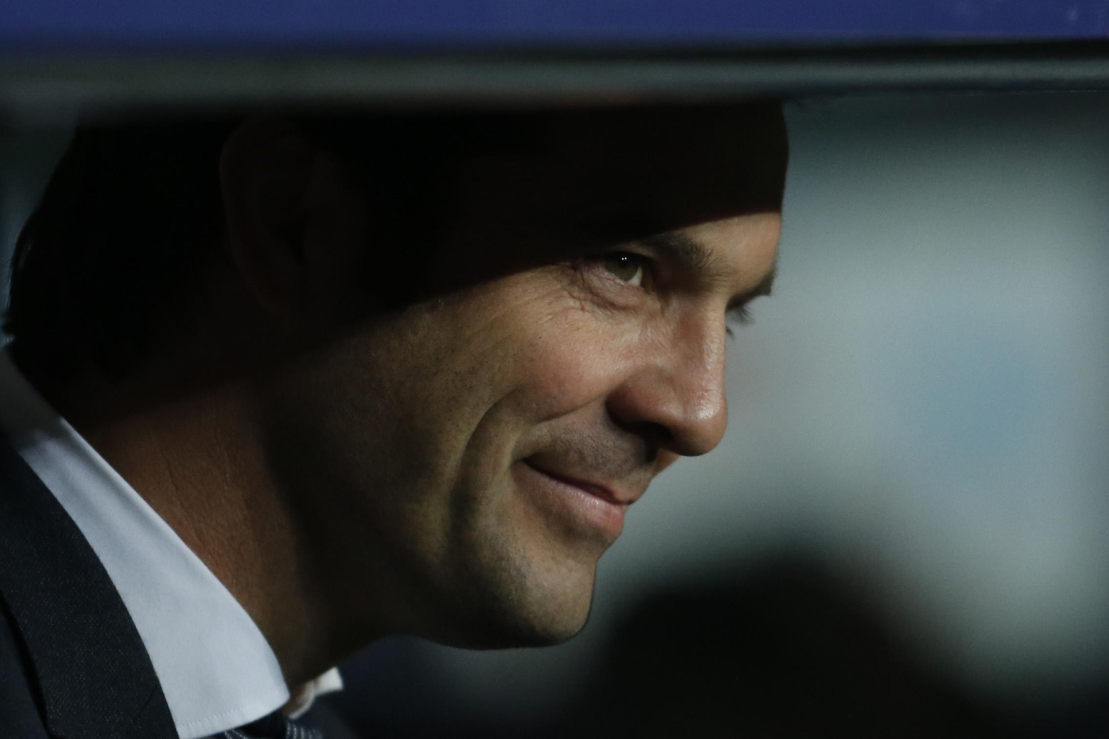 El entrenador del Real Madrid, Santiago Solari, confía en el trabajo de sus jugadores. (Foto Prensa Libre: AFP)