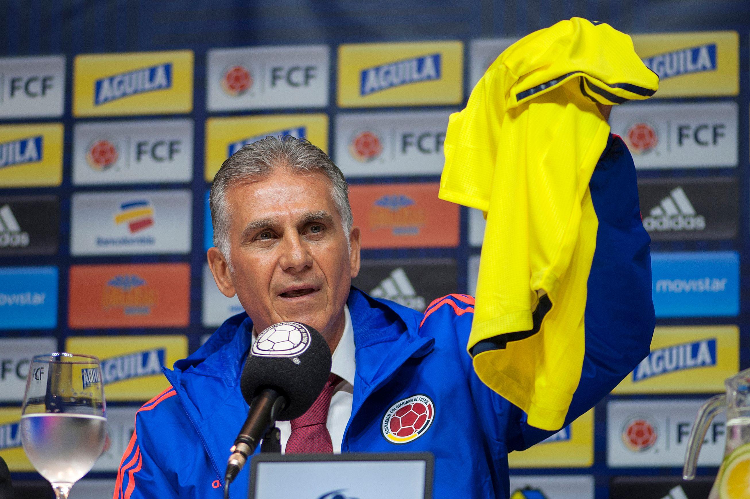 El entrenador portugués Carlos Queiroz buscará con Colombia la clasificación a Qatar 2022. (Foto Prensa Libre: AFP)