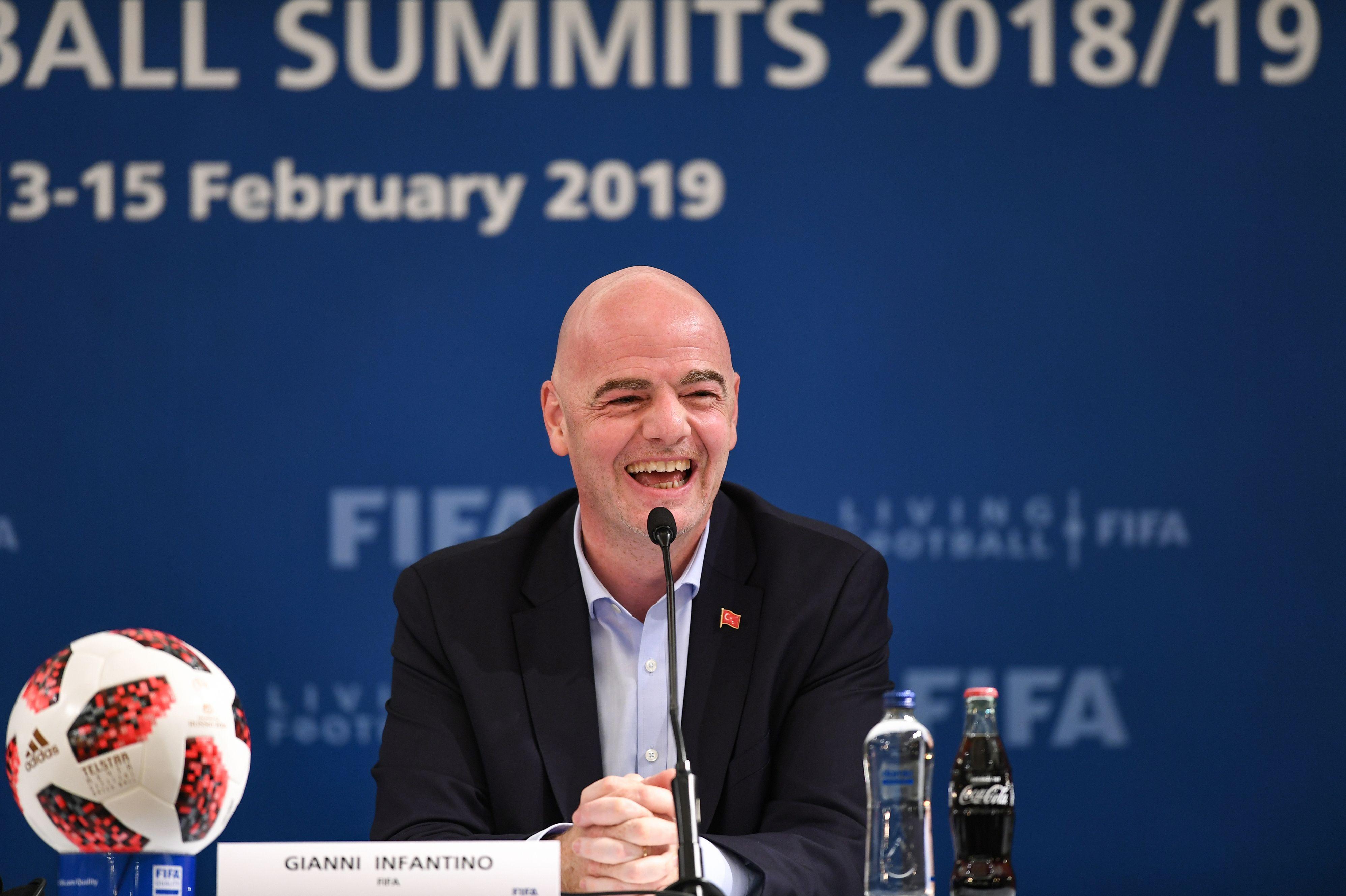 El presidente de la Fifa, Gianni Infantino, espera que el Mundial de Qatar tenga 48 selecciones. (Foto Prensa Libre: AFP)