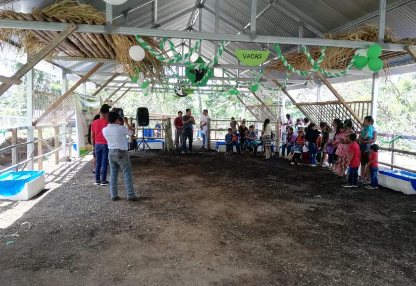 El objetivo del albergue en San Pedro Yepocapa, Chimaltenango, es proteger a los animales ante una emergencia. (Foto Prensa Libre: Cortesía Conred).