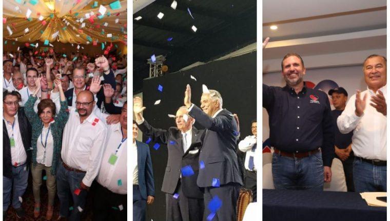 Los partidos Encuentro Por Guatemala, Humanista y Podemos efectuaron su asamblea de proclamación de candidatos. (Foto Prensa Libre: Esbin García y Luis Sajché)