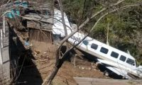 Una avioneta posiblemente utilizada por el narcotráfico cayó en Chiquimula (Foto Prensa Libre: MP)
