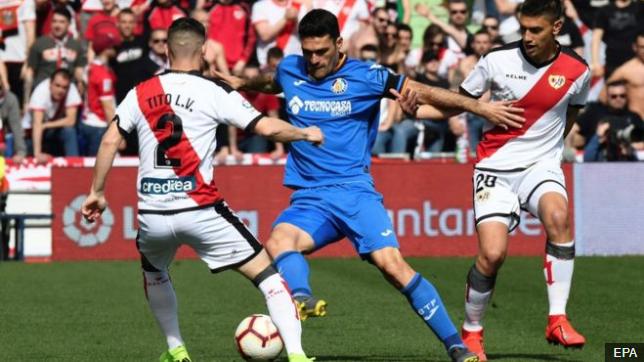 El Rayo Vallecano y el Getafe se enfrentaron el pasado sábado en un partido de La Liga española. EPA