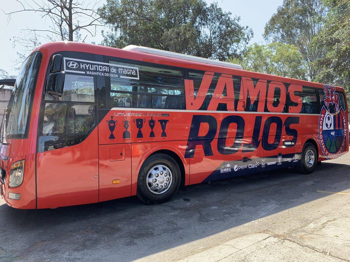 Este es el transporte que utiliza Municipal. (Foto Prensa Libre: CSD Municipal)