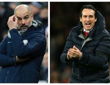 Pep Guardiola y Unai Emery tienen una jornada importante en la Premier. (Foto Prensa Libre: AFP)
