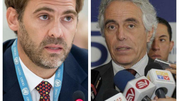 Juan Pablo Bohoslavsky y  Diego García-Sayán, especialistas de ONU, abordaron la situación de funcionarios judiciales en Guatemala. (Foto Prensa Libre: Hemeroteca PL)