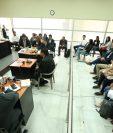 El debate del caso Botín en el Registro de la Propiedad se realizó en el primer nivel de la Torre de Tribunales. (Foto Prensa Libre: Esbin García)