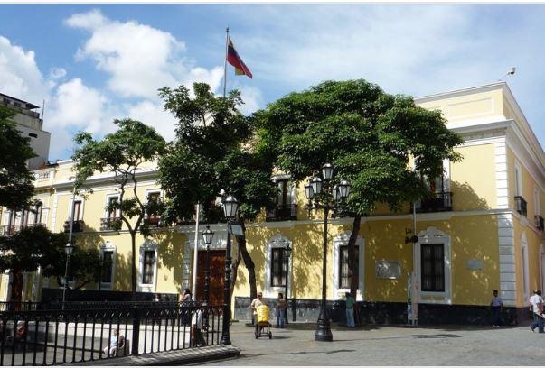 Sede de la Cancillería de Venezuela. (Foto Twitter/  @CancilleriaVE)