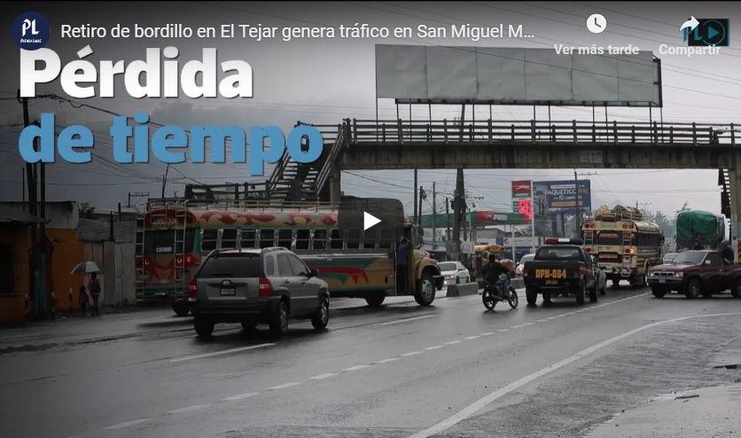 Tráfico en Chimaltenango.