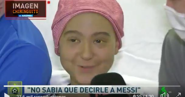 Joyce, aficionada del FC Barcelona. (Twitter: El Chiringuito)