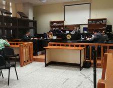 En el Juzgado de Mayor Riesgo B se realizó la audiencia de revisión a tres procesados en el caso TCQ. (Foto Prensa Libre: Esbin García)