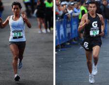 Merlín Chalí y Alberto González fueron los mejores en la rama femenina y masculina respectivamente en la edición XIX de la Carrera Santa Rosita. (Foto Prensa Libre: Carlos Ovalle)