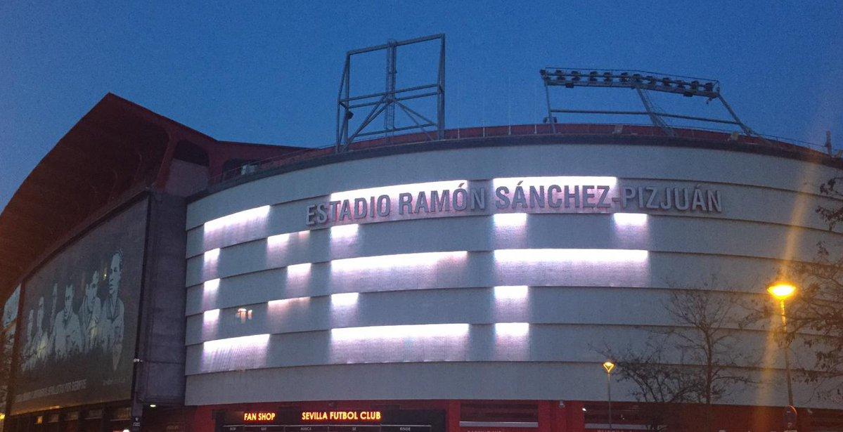 El Estadio Sánchez Pizjuán del Sevilla. (Foto Prensa Libre: Twitter Sevilla)