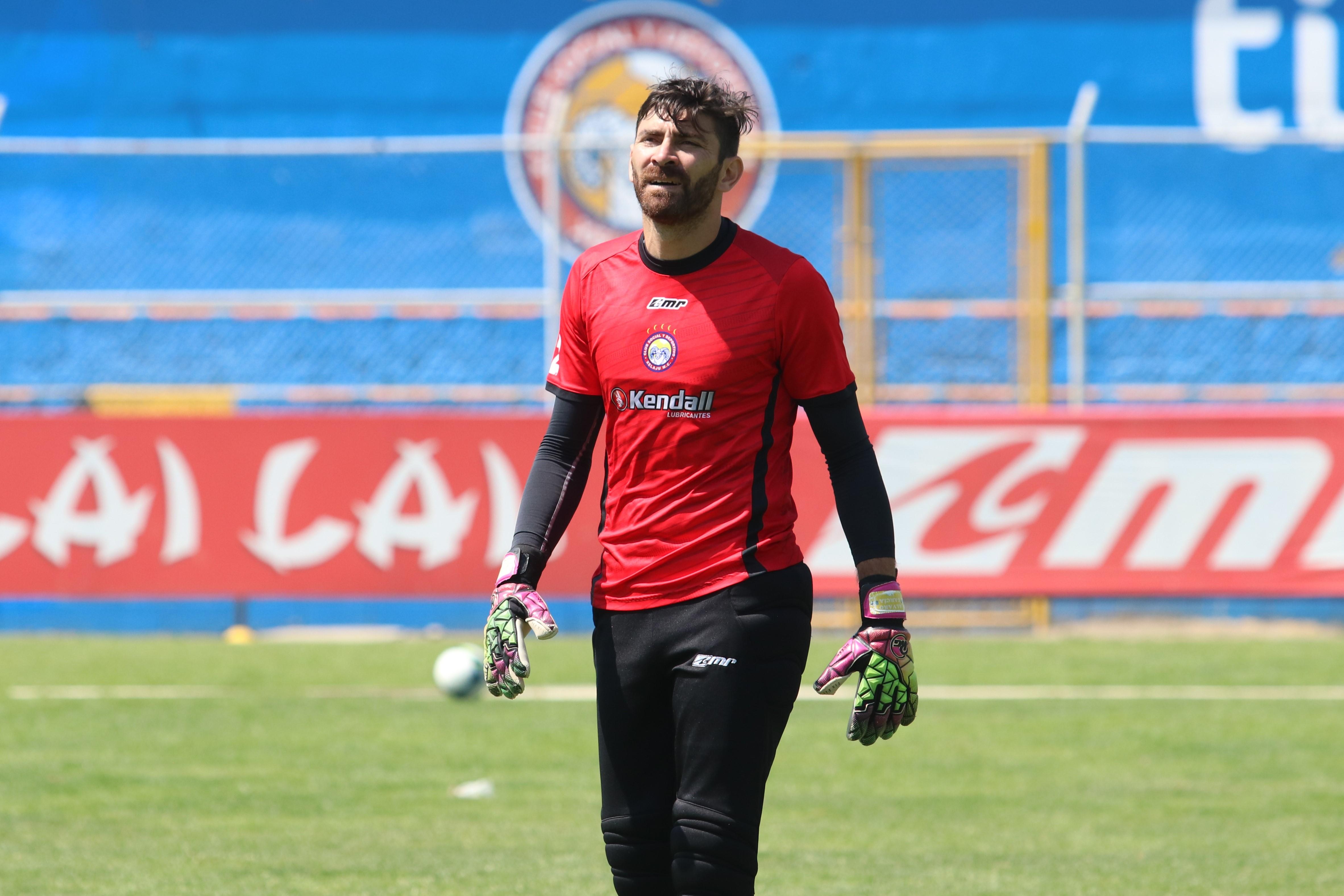 Álvaro García fichó este semestre para Xelajú con el objetivo de buscar su primer campeonato en Guatemala. (Foto Prensa Libre: Raúl Juárez)