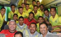 El plantel de Deportivo Guastatoya viajó a la Ciudad de Guatemala para enfrentar al Dynamo Houston. (Foto Prensa Libre: CD Guastatoya)