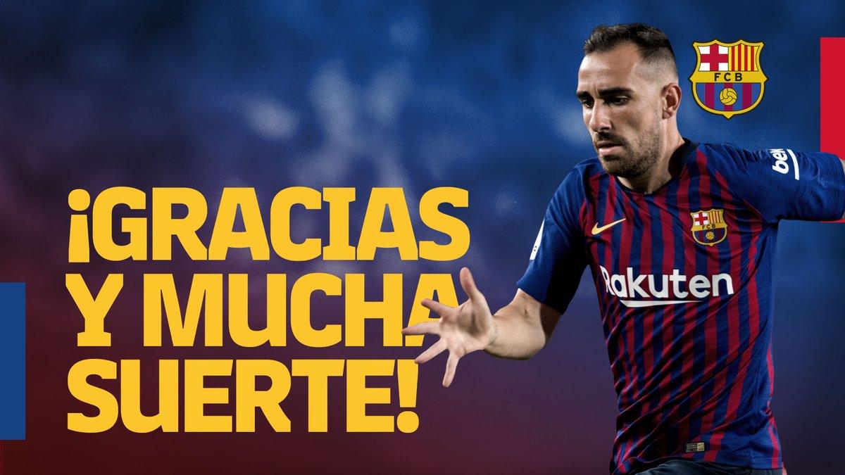 El Barcelona se despidió de Paco Alácer en las redes sociales. (Foto Prensa Libre: Twitter)