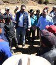 Presidente Jimmy Morales visitó Totonicapán el martes, donde habló que Guatemala había sido admitida a la Ocde, lo cual es impreciso. (Foto Prensa Libre: Gobierno de Guatemala)